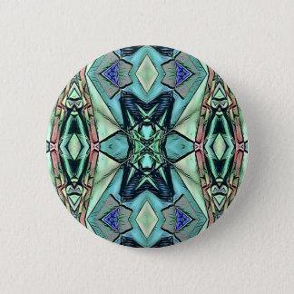 Modern Teal Lilac Peach Artistic Pattern 6 Cm Round Badge