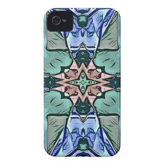 Modern Teal Lilac Peach Artistic Pattern Case-Mate iPhone 4 Case