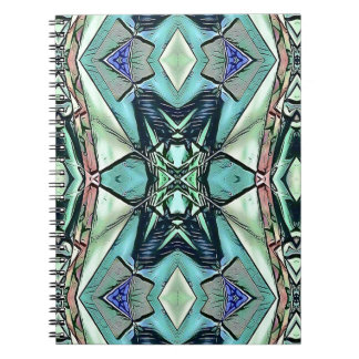 Modern Teal Lilac Peach Artistic Pattern Notebook