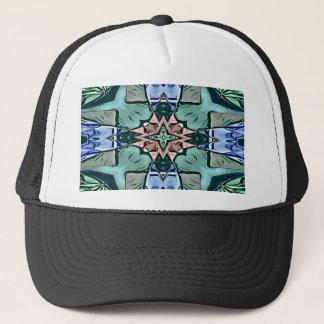 Modern Teal Lilac Peach Artistic Pattern Trucker Hat