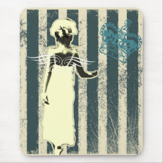 modern teal stripes Junior Bridesmaid Mouse Pad