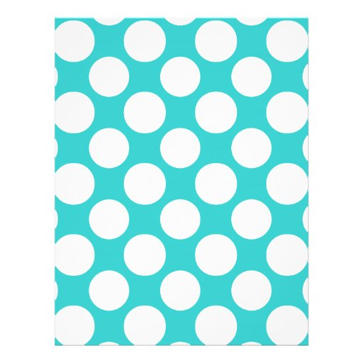 Modern Teal White Polka Dots Pattern Custom Flyer
