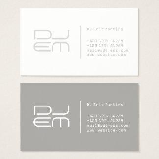 Modern tech futuristic business card