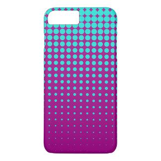Modern techno shrinking polka dots opal  fuchsia iPhone 7 plus case