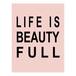 MODERN TEXT Life is Beauty Full Postcard