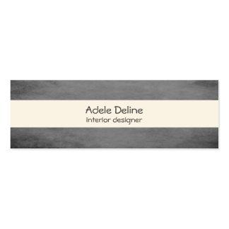Modern Texture Grey Interior Designer Pack Of Skinny Business Cards