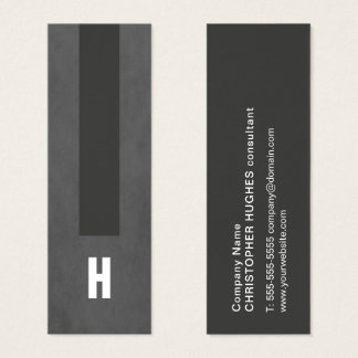 Modern Texture Grey Stripe Consultant Monogram Mini Business Card
