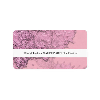Modern Textured Abstract Pink Chic Personalized Address Label