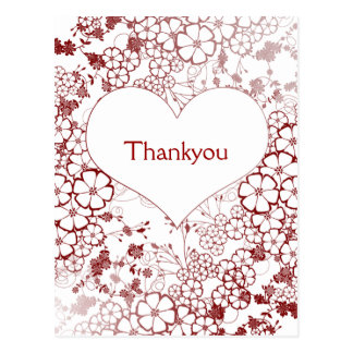 modern Thank You Cards Postcard