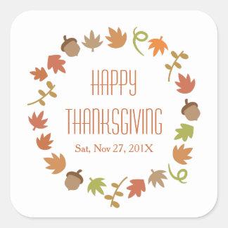 Modern Thanksgiving Dinner Party Square Sticker