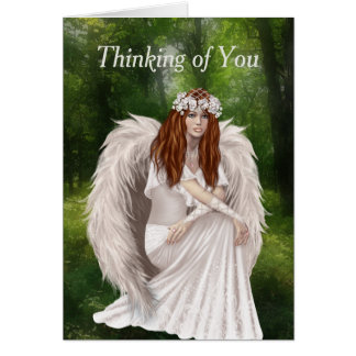 Modern Thinking of You with Beautiful White Angel Card