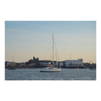 Modern Thirty Foot Yacht Poster