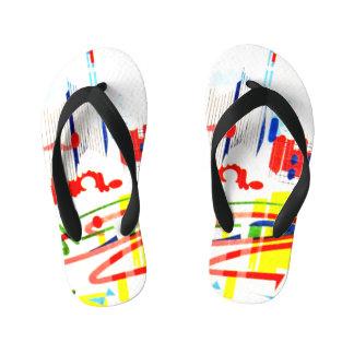 Modern Tiles - Lisbon Kid's Thongs