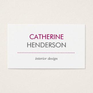 Modern Tones Business Card - Pink