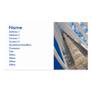 Modern tower pack of standard business cards