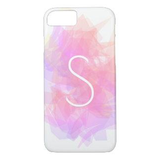Modern Transparent Layers/Magenta Peach & Pink iPhone 8/7 Case
