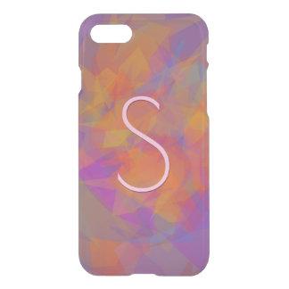 Modern Transparent Layers/Purple Orange iPhone 8/7 Case