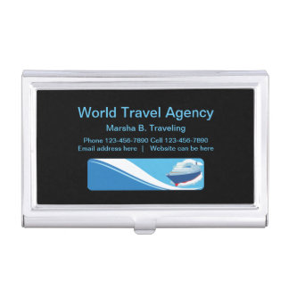 Modern Travel Agent And Agency Business Card Holder