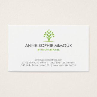 MODERN TREE GREEN/WHITE Business Card
