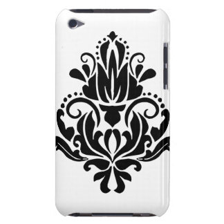 MODERN TREND BLACK AND WHITE DAMASK Case-Mate iPod TOUCH CASE