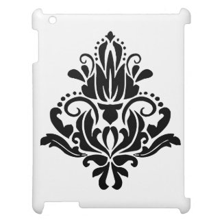 MODERN TREND BLACK AND WHITE DAMASK iPad COVERS