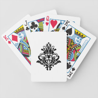 MODERN TREND BLACK AND WHITE DAMASK POKER DECK
