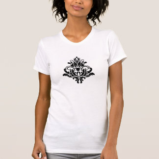 MODERN TREND BLACK AND WHITE DAMASK T-Shirt
