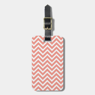 modern trend coral chevron tag for bags