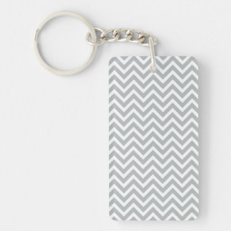 modern trend grey chevron Double-Sided rectangular acrylic key ring