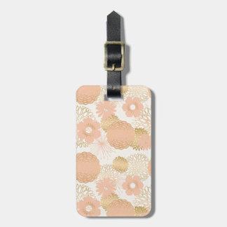modern trends blush flower blooms bag tag