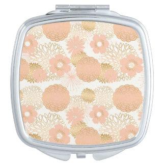modern trends blush flower blooms vanity mirror