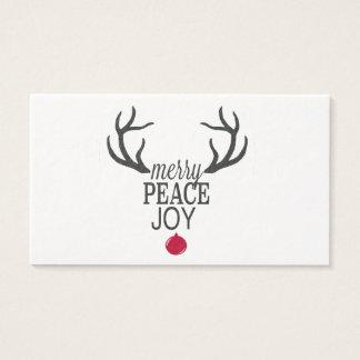 Modern trends Christmas reindeer Business Card