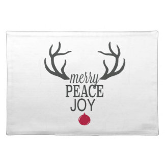 Modern trends Christmas reindeer Placemat
