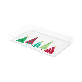 Modern trends Christmas Trees Acrylic Tray