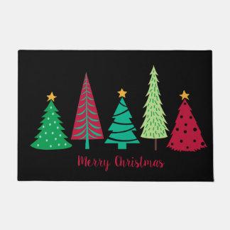 Modern trends Christmas Trees Doormat