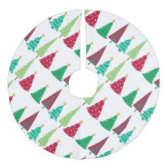 Modern trends Christmas Trees Faux Linen Tree Skirt