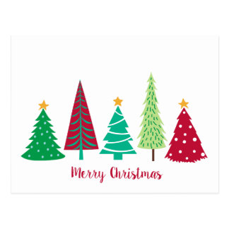 Modern trends Christmas Trees Postcard