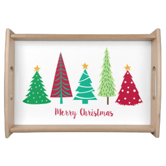 Modern trends Christmas Trees Serving Tray