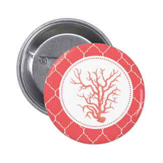 modern trends coral shell pinback button