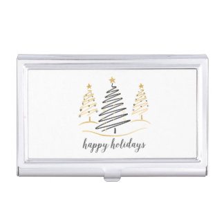 Modern Trends Holiday Trees Business Card Holder