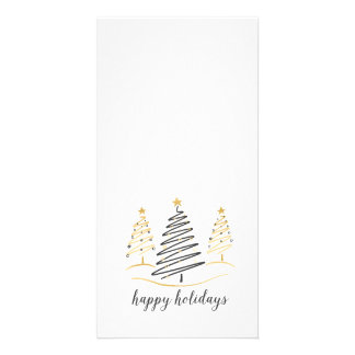 Modern Trends Holiday Trees Photo Cards