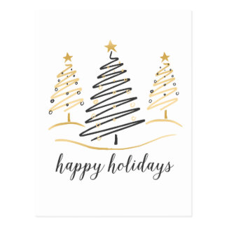 Modern Trends Holiday Trees Postcard