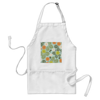 modern trends seafoam floral aprons