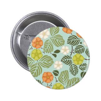 modern trends seafoam floral buttons