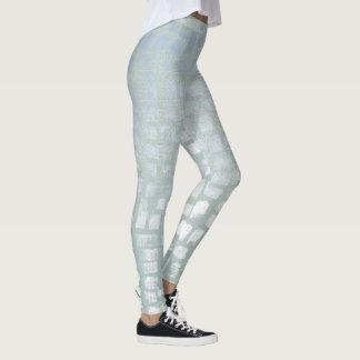 Modern Trendy Blush Blue Abstract Leggings