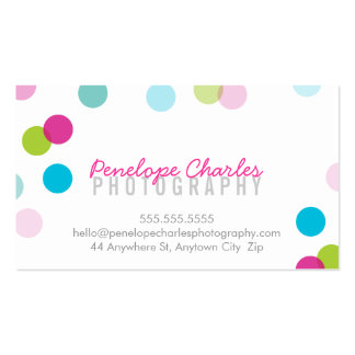 MODERN trendy bright bold fun colorful confetti Pack Of Standard Business Cards