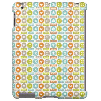 Modern & Trendy Button Pattern iPad Case