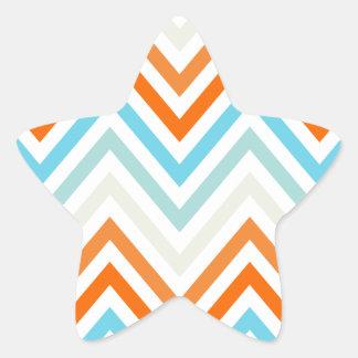 Modern Trendy Chevron Pattern Gifts Star Sticker