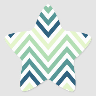 Modern Trendy Colorful Chevron Stickers
