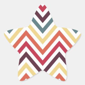 Modern Trendy Colorful Chevron Star Sticker